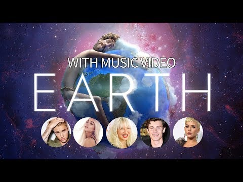 Earth by Lil Dicky (With Photo and Name of the Singers) (With Music Video in 20%Transp.) (Lyrics)