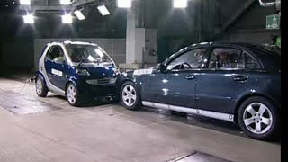 ► Smart Fortwo VS Mercedes E-Class - CRASH TEST