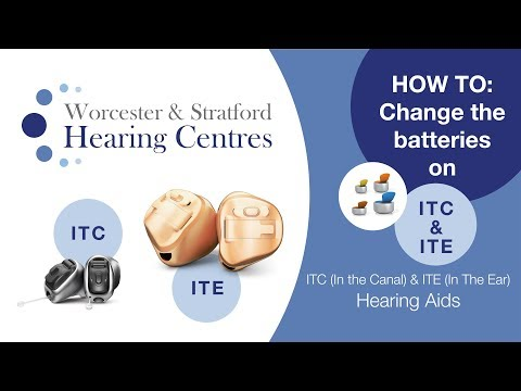 How to change the batteries on ITC or ITE hearing aids