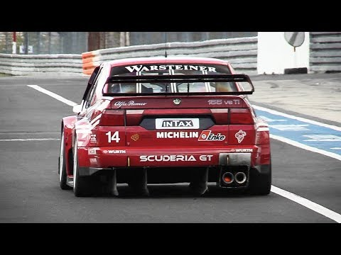 UNMUFFLED Alfa Romeo 155 V6 Ti singing around Nürburgring GP-Strecke!