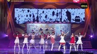 071214 SNSD- Honey + Ooh La La ! + Girls' Generation @ Golden Disk Awards 2007