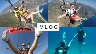 VLOG | Yamaç Paraşütü, Dalış, YARASA!!  | Fethiye 2017