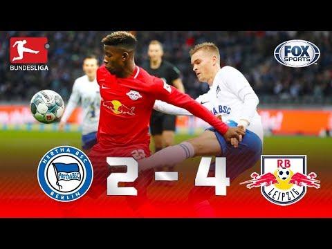 SHOW DE TIMO WERNER NA BUNDESLIGA! Veja os melhores momentos de Hertha 2 x 4 Leipzig pela Bundesliga