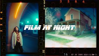 35mm Film Photography At Night. Testing Out Cinestill 800t
