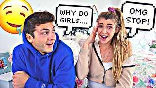 Asking a GIRL questions GUYS are too afraid to ask....
