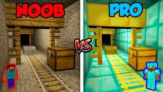 Minecraft NOOB vs. PRO: MINESHAFT in Minecraft!
