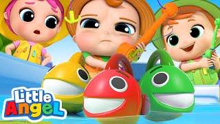 10 Little Fishies Song | Little Angel Nursery Rhymes & Kids Songs
