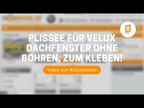 Plissee für Velux Dachfenster ohne Bohren zum Kleben - Video von Rollomeister