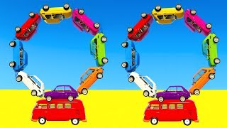 LEARN COLOR CARS BUS with Superheroes Cartoon for kids and babies