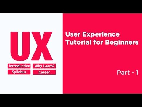 UX Design Tutorial for Beginners 2018 Part 1 | UX Design Course ...