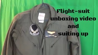 Flight-suit Unboxing Video And Suiting Up