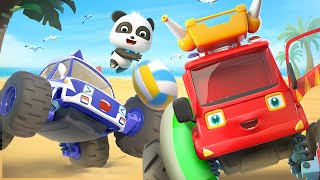 Monster Car for Kids | Monster Fire Truck | Police Car, Ambulance Song | Cars and Vehicles | BabyBus