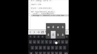 Python ScriptLayer4Android (sl4a) Demo
