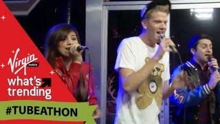 "Pentatonix Sing ""Angels We Have Heard on High"" LIVE at #Tubeathon"