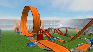 HOT WHEELS TRACK BUILDER GAME Torque Twister / Twinduction Sets Gameplay Video
