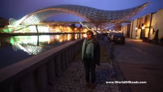 preview picture of video 'Мост Мира (Тбилиси, Грузия) / The Bridge of Peace (Tbilisi, Georgia)'