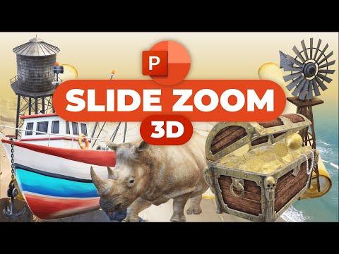PowerPoint Slide Zoom Tutorial 🔥3D 🔥