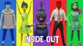"Play Doh ""FROZEN"" Elsa,Anna,Kristoff,Hans,Olaf ""INSIDE OUT"" Inspired Costumes"