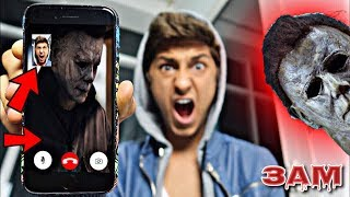 DO NOT FACETIME MICHAEL MYERS FROM HALLOWEEN MOVIE AT 3AM!! *OMG HE ACTUALLY CAME TO MY HOUSE*
