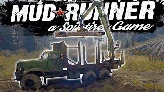 Spintires Mudrunner - Loading The Logs! - Spintires Challenge Mode - Spintires Mudrunner Gameplay
