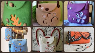 Beautiful Handmade Felt Shoulder Bags Styles And Ideas
