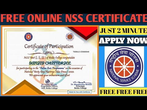 FREE CERTIFICATE WITH IN 2 MINUTES | FREE NSS ... - YouTube