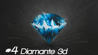 Como Dibujar Un Diamante 3d/Drawing Diamond