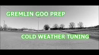 GREMLIN GOO AND COLD ASHPHALT VLOG | NO PREP DRAG RC | FPV