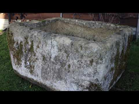 Large Pale Limestone Trough (Stk No.3915)