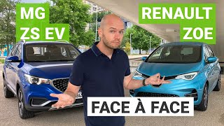 Renault ZOE vs. MG ZS EV : l'Empire (du milieu) contre attaque !