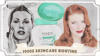 I Followed A 1950s Skincare Routine For A Week... [CC]