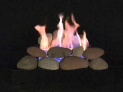 Alterna Vent-Free FireStones with Black Chassis Burner and Brown/Natural/Beige Colors