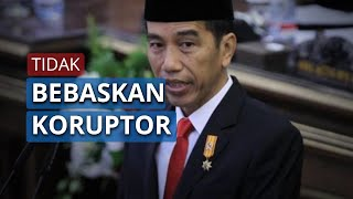 Tegaskan Tak Bebaskan Koruptor di Tengah Pandemi, Jokowi: Lapas Kita Memang Over Kapasitas