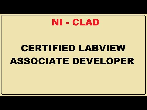 NI - CLAD - Certified LabVIEW Associate Developer Exam - YouTube