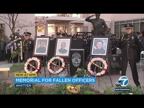 Slain Whittier officer honored on 1-year anniversary of his death | ABC7