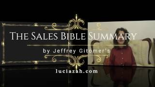 Summary - The Sales Bible by Jeffrey Gitomer