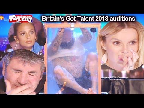 Matt Johnson Escape Artist Got everyone WORRIED  Auditions Britain's Got Talent 2018 S12E01 (видео)