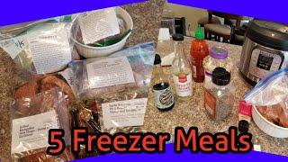 5 Fall Freezer Meals! Including crockpot and instant pot!!