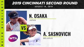 Naomi Osaka vs. Aliaksandra Sasnovich | 2019 Western & Southern Open Second Round | WTA Highlig