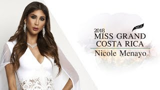 Nicole Menayo Miss Grand Costa Rica 2018 Introduction Video