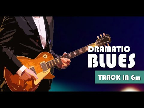 Dramatic Slow Minor Blues Guitar Backing Track Jam in Gm