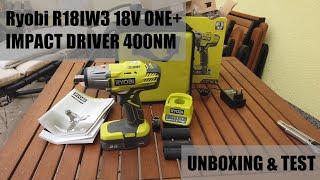 Test Impact Wrench Ryobi R18IW3-120S 18V ONE+ 400NM