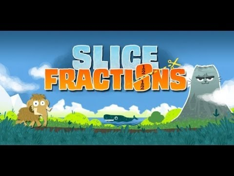 Screenshot of video: Slice Fractions App