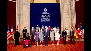 Audiencia a los galardonados con los Premios Princesa de Asturias 2021