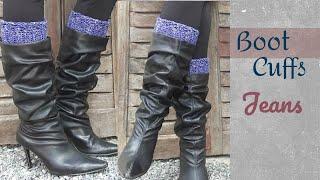 Fio Jeans | Boot Cuffs Em Crochê