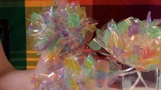 How to Make Flowers Out of Cello Wrap : Festive Decorations