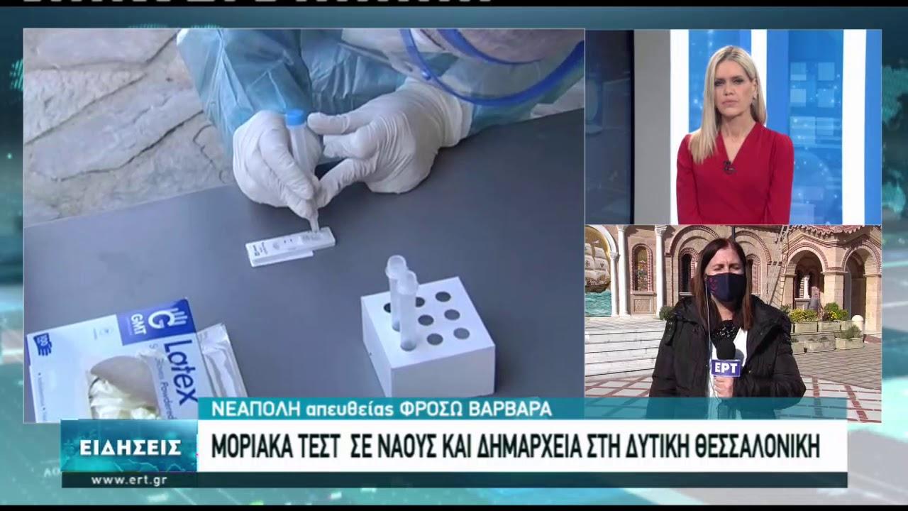 Πάνω από 100 μοριακά τεστ έγιναν σήμερα στη δυτική Θεσσαλονίκη | 01/02/2021 | ΕΡΤ