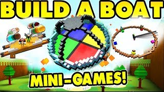 Build a boat MINIGAME THEMEPARK! [10 games!]