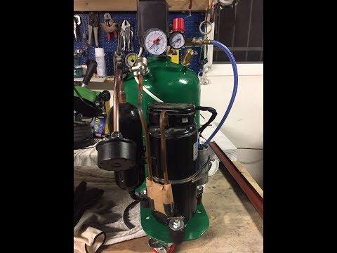 homemade air compressor - compressore silenzioso autocostruito