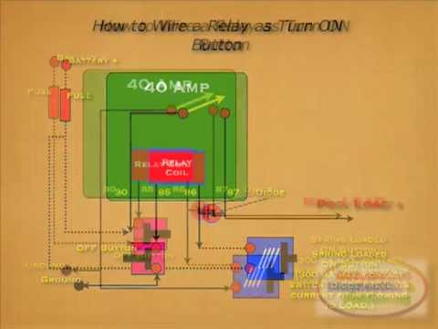 How to Wire Relay as On Button